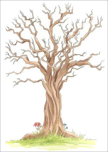Poster 90 x 130 cm  Stammbaum von Nadine Conrad - hochwertiger Kunstdruck, neues Kunstposter