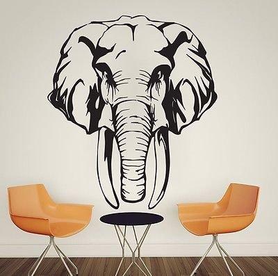 African Safari Animal Elephant Vinyl Wall Decal Sticker Home Room Decor Wall Art