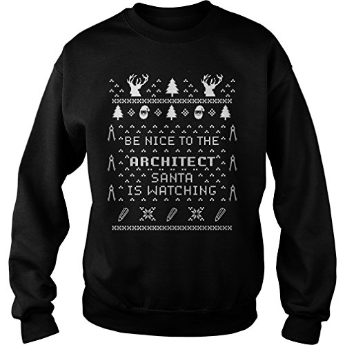 Merry Pets Apparel Be Nice to Architect Santa is Watching Ugly...