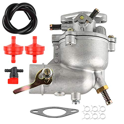 Carburetor fit Briggs & Stratton 5000 Coleman Powermate 3250 4000 5000 Portable Gas Pincor 2500 3500 Chicago Electric 8000 Watts Generator Motor Homelite E3000-1A/E4000-1A Engine with Fuel Line Filter
