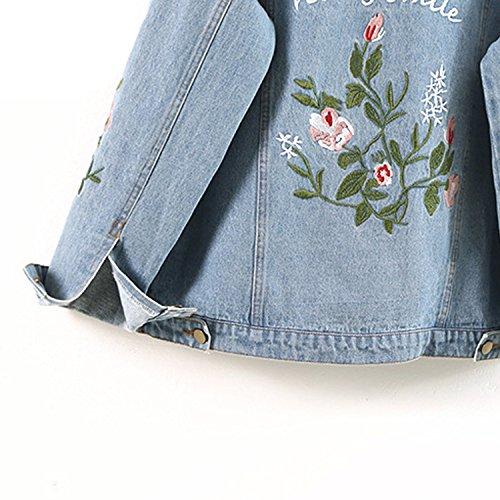 1 All Loose Embroidery Kidly Jacket Jackets Denim Femme Coats Match Jackets Autumn Jeans Basic Coat 6ZxZn0aq
