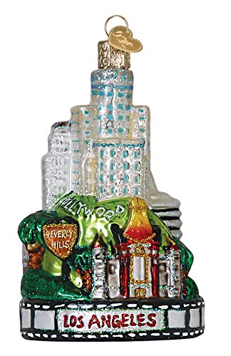 Old World Christmas Glass Blown Ornament Los Angeles City (20085) -