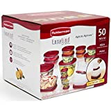 Rubbermaid Easy Find : Rubbermaid 50-piece Easy Find Lids Food Storage Set, Food Storage Containers