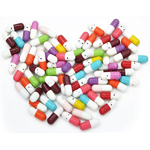 Tiny Letters - PartyYeah 100 Pcs Tiny Love Message Capsule Letter in a Bottle Cute Love Friendship Half Pill in Random Color