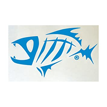 g loomis skeleton fish logo window sticker blue amazon ca sports rh amazon ca fish skeleton logo meaning Mean Fish Skeleton Clip Art