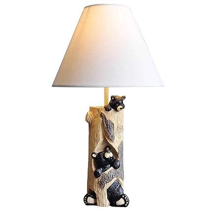 ○ * Pastoral europea Lámpara de mesa Dibujos animados ...