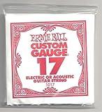 ERNIE BALL SIX PACK OF CUSTOM GAUGE 17 --1017 -- (P01017) --.017 Plain Steel -- 6 pack of strings