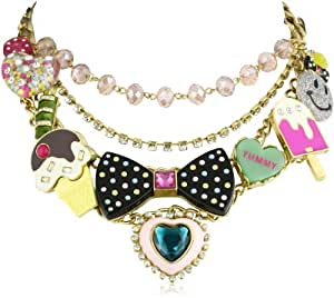 """Betsey Johnson """"Candy Land"""" Candy Multi-Charm Necklace"""