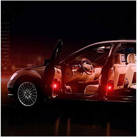 5 Lights Blue 4PCS Car opening door singal lights,Universal Wireless Car Opening Door Magnetic Singal Lights Styling Strobe,Flashing Anti Collision Signal light.