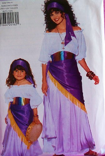 butterick 4653 gypsy costume pattern misses 6 to 18 and child 2 to 6x