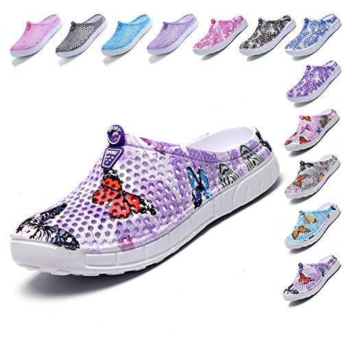purple2 BARKOR Womens Anti Quick Drying Mens Slippers Footwear Summer Shoes Shoes Lightweight Breathable Clog Garden Mesh Mesh Slip FFrTA