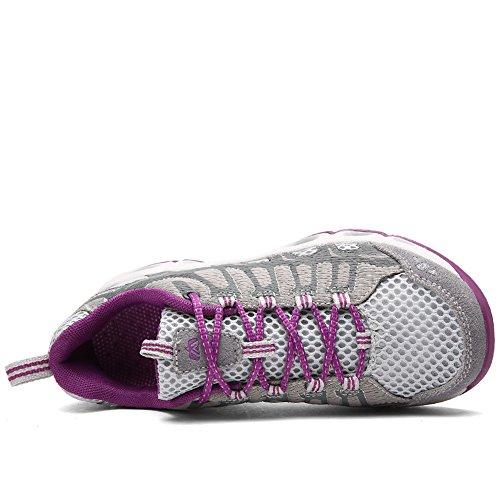 Light Men's and Hiking Meshing Grey Breathable Shoes Outdoor Shoe Lakerom Women's az5pqxwzd