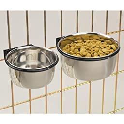 ProSelect Stainless Steel Coop Cups — Versatile Coop Cups for Pet and Animal Cages, 64-Ounce