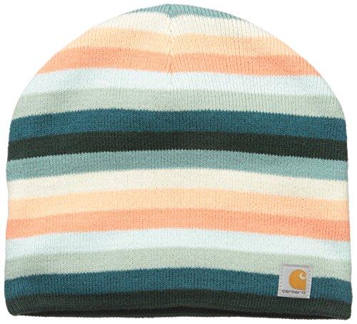 - Carhartt Women's Striped Knit Hat, Teal Blue, One Size