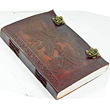 leather journals Writing Notebook - Antique Handmade Leather Bound Daily Notepad For Men & Women Unlined Paper Medium 7 x 5 Inches, Best Gift for Art Sketchbook, Travel Diary & Notebooks to Write in