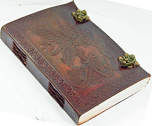 leather journals back to school Antique Handmade Leather Bound Daily Notepad For Men  Women Unlined Paper Medium 7 x 5 Inches, Best Gift for Art Sket…