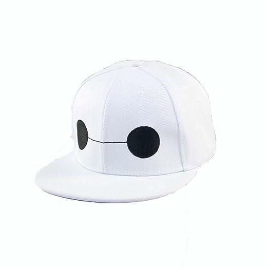Amazon.com  Big Hero 6 Baymax Hat Basketball Cap Snapback Cosplay Cap  Teenage Adult Size  Clothing 56bf335c47b