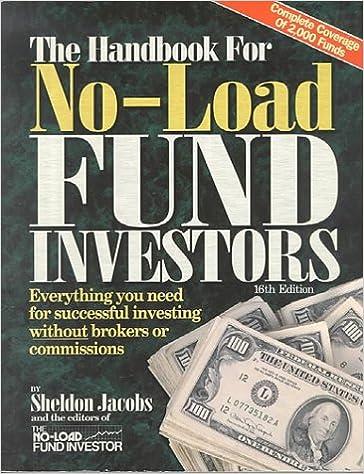 The Handbook for No-Load Investors: Sheldon Jacobs: 9780786310012
