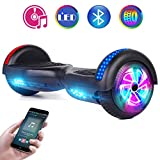 Benedi Hoverboard Two-Wheel Self Balancing Scooter UL2272 Certified Hover Board with Bluetooth Speaker 6.5' Flash Wheels and Top Colorful LED Lights (Black)