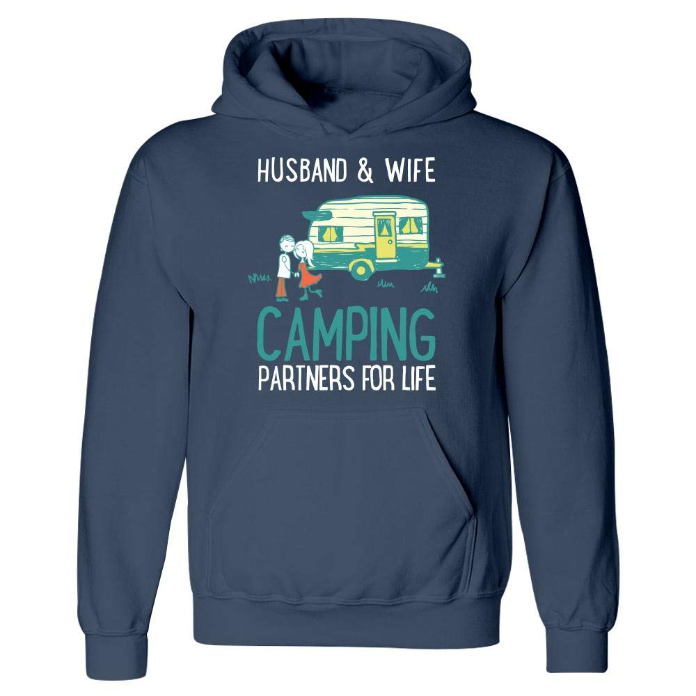 Muggalicious Husband and Wife Camping Partners Hoodie