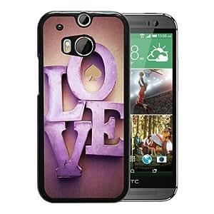 Unique Designed Kate Spade Cover Case For HTC ONE M8 Black Phone Case 187