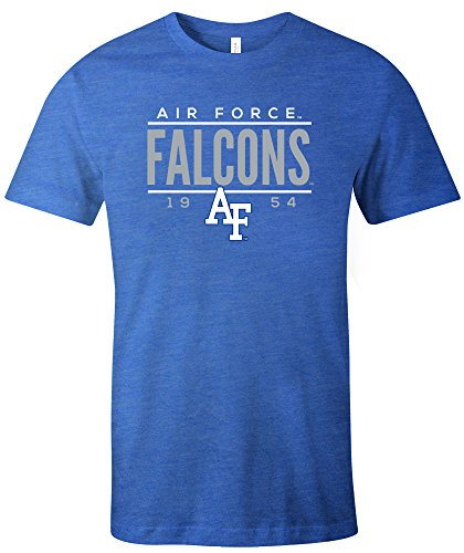 - NCAA Air Force Falcons Tradition Short Sleeve Tri-Blend T-Shirt, Royal,X-Large