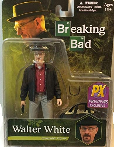 Breaking Bad Px Previews Exclusive Walter White Collectible Figure In Grey Khakis Including Bag Of Blue Stuff by Breaking -