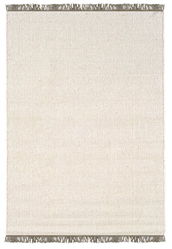 Linon Verginia Berber Off- Off-White Natural Fiber Rugs, 3.5 x 5.5, Brown