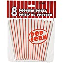 Unique Industries Set of 8 Classic Red and White Striped Popcorn Boxes, 3-Pack