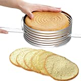 1 Piece 1pc 16-20cm Stainless Steel Cake Layered Slicer Adjustable Retractable Circular Mousse