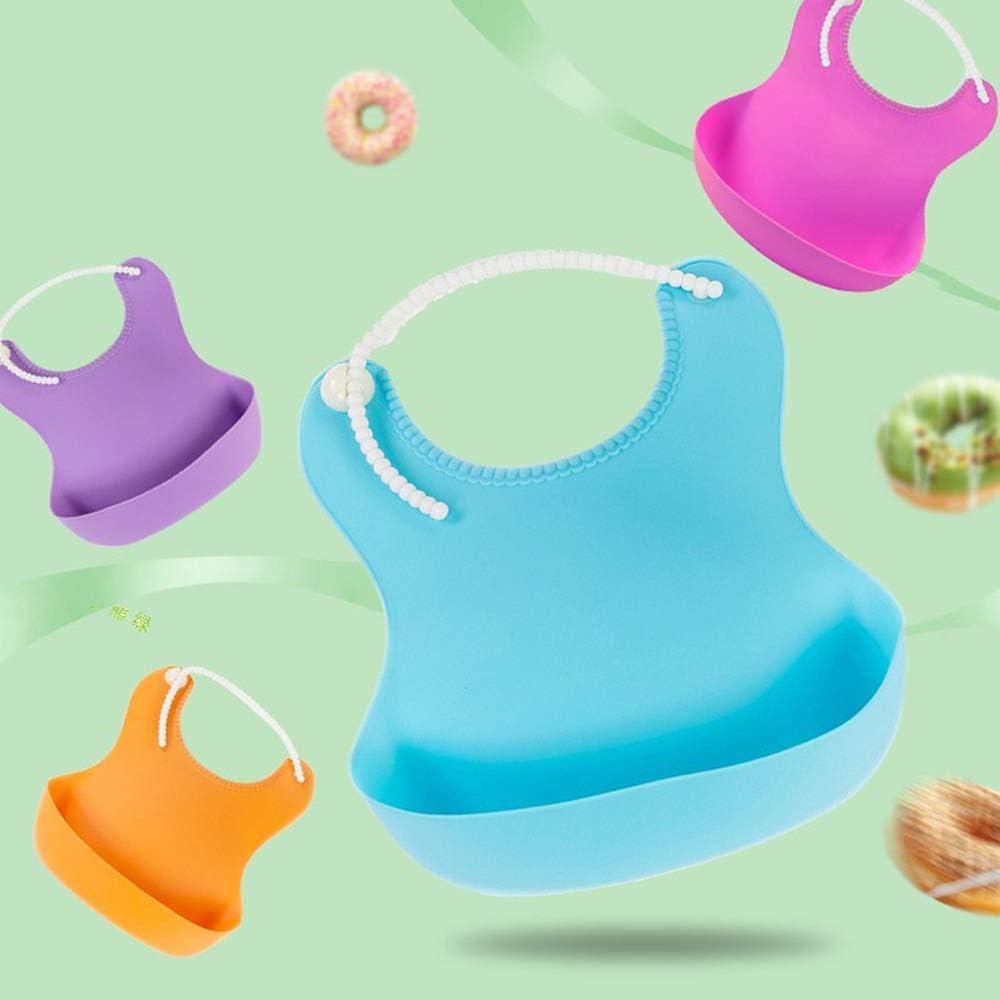 Ogquaton Stockton Bavoir B/éb/é de Imperm/éables Plastique Recuperateur Porte-bouche Bouche Fouettes pour Enfants Poche B/éb/é Bavoir