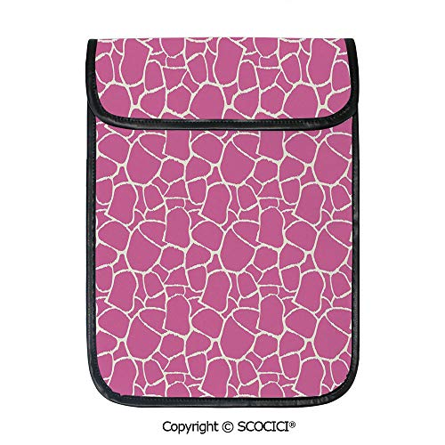 (SCOCICI Simple Protective Abstract Giraffe Skin Pattern Vivid Color Exotic Animal Camouflage Safari Jungle Pouch Bag Sleeve Case Cover for 12.9 inches Tablets)