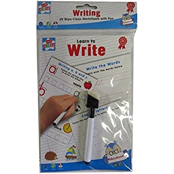 Amazon.com : Handwriting Practice 24 Pages Reusable Wipe Clean ...