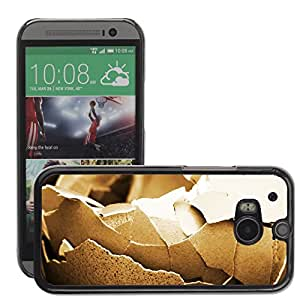 Etui Housse Coque de Protection Cover Rigide pour // M00116525 Pájaro Roto de Brown del pollo Primer // HTC One M8