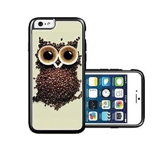RCGrafix Brand Coffee Owl iPhone 6 Case - Fits NEW Apple iPhone 6