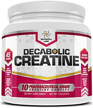 Decabolic Creatine Powerful 10 Creatine BLEND Powder – Extreme Performance, Muscle Strength and Size Boost Supplement