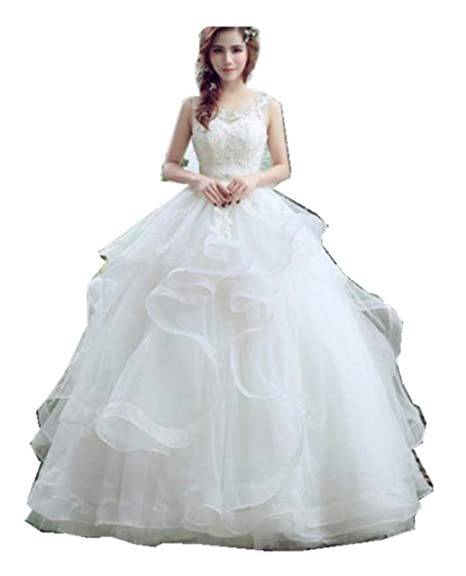Buy Gownlink Beautiful Full Stitched Christian White Ball Gown Dress In White Color For Women Glhs037 With Sleeves At Amazon In