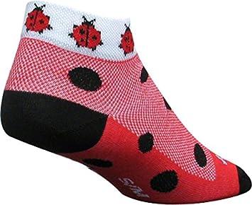 Calcetines Sockguy de Corte bajo para Mujer, Calcetines, Mujer, Color Lady Bug Red, tamaño S/M: SockGuy: Amazon.es: Deportes y aire libre
