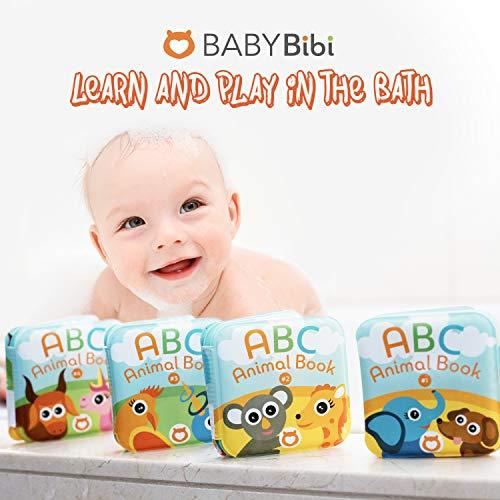 Floating Baby Bath Books. Kids Learning Bath Toys. Waterproof Bathtime Toys for Toddlers. Kids Educational Infant Bath Toys.(Set of 4: ABC Animal Bath Books)
