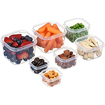 Meal Prep Haven 7 Piece Portion Control Container Kit with Guide, Black, Comparable to 21 Day Fix