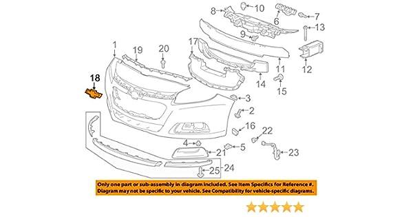 OEM NEW Front Bumper Grille Gold Bowtie Emblem Badge 13-16 Malibu 23131644