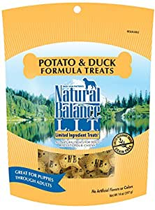 Natural Balance L.I.T. Limited Ingredient Dog Treats, Grain Free, Potato & Duck Formula, 14-Ounce