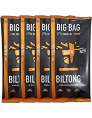 BEEFit Snacks 1kg of Peri Peri Biltong, High Protein, Healthy, Low Sugar, Carb Killer Snack - Not Beef Jerky (4x250g)