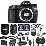 Canon EOS 70D 20.2MP CMOS Digital SLR DSLR Camera Bundle with Tamron AF 28-75mm f/2.8 Autofocus Lens & Tamron Auto Focus 70-300mm f/4.0-5.6 Di LD + Accessory Kit (17 items)