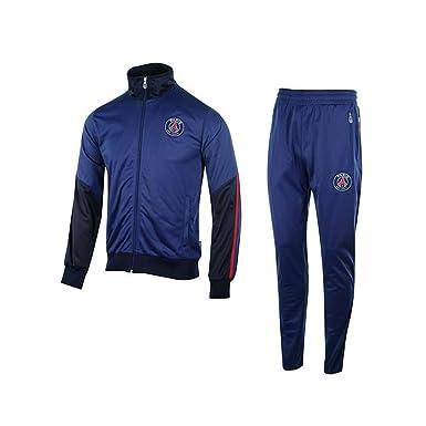 3efca4797d66a4 Survêtement PSG Enfant Polyester - Licence Officielle - Bleu. Taille EU -  12 Ans: Amazon.fr: Vêtements et accessoires
