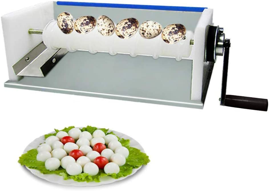 Máquina de pelar huevos de codorniz manual Hogar comercial Acero inoxidable cocido codorniz Herramienta de pelar huevos de ave Máquina de pelar casa peladora