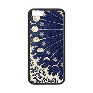 Sun Moon Design Solid Rubber Customized Cover Case for iPhone 6 4.7