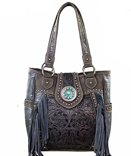 trinity-ranch-concealed-carry-tooled-leather-fringe-tote-5-color-choicesgray