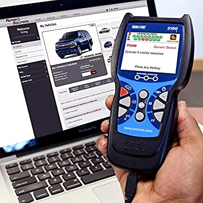 Innova 3100j OBD2 Scanner / Car Code Reader with ABS, SRS, and Service Light Reset: Automotive