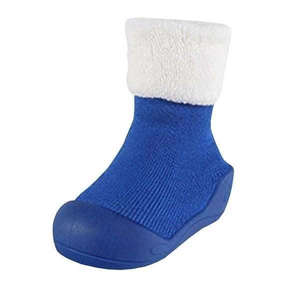 LPATTERN Zapatillas de Andar por Casa para Bebés Calcetines Primeros Pasos Invierno Antideslizantes: Amazon.es: Ropa y accesorios